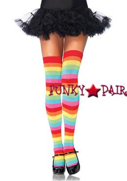 6334, Rainbow Thigh Highs