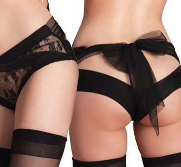 LA-2853, Spandex Open Back Panty by Leg Avenue