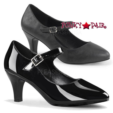 "Divine-440, 3"" Drag Heel Mary Jane Pump | Pink Label"