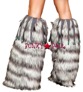 LW4427-Leg Warmers with Beaded Fringe