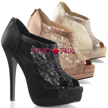 Bella-26, Platform Lace Bootie by Pleaser