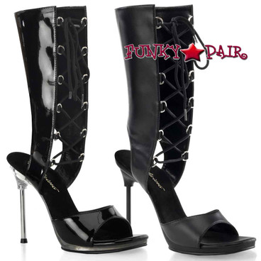 CHIC-65, Knee High Lace up Sandal Made By PLEASER Shoes
