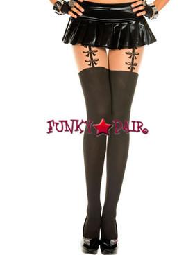 ML-7118, Bow Suspender Look Pantyhose