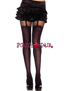 ML-7247 Pantyhose with Faux Thigh High Suspender