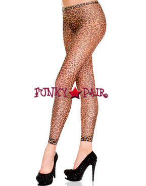 ML-35825, Leopard Print Fishnet Leggings