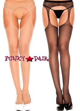 Plus Size Suspender Pantyhose by Music Legs ML-803Q