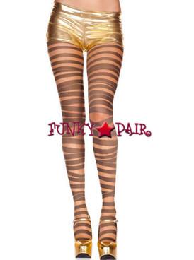 ML-7290, Shimmery Gold Bandage Design Pantyhose