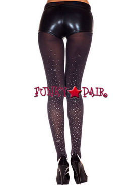 ML-37003, Faux Rhinestones Tights