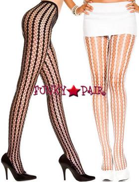 ML-9010, Striped Crochet Pantyhose