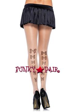LA-7911, Tattoo Bow Pantyhose