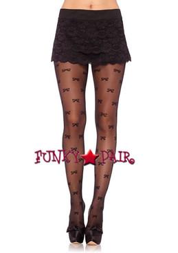 LA-7915, Vintage Bow Pantyhose