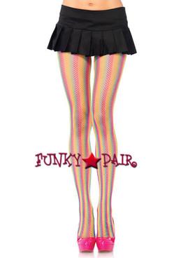 LA-9970, Rainbow Striped Pantyhose