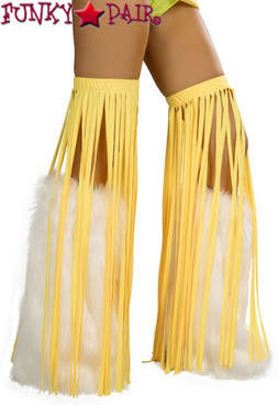 CL500, Neon yellow Solid Fringe Leggings