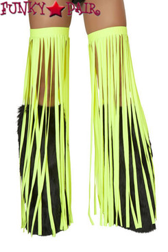 CL500, Lime Solid Fringe Leggings