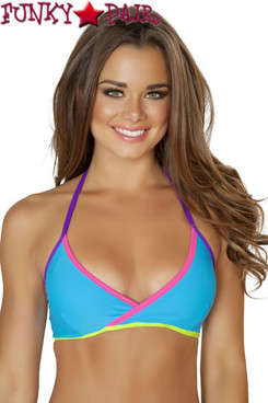 J Valentine | SF134, String Top Color Turquoise/Multi