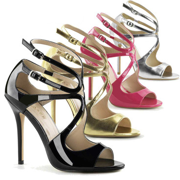 Pleaser Shoes | Amuse-15, Strappy Sandal