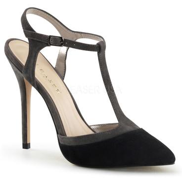 Pleaser | Amuse-17, Two-Tone T-Strap Sandal