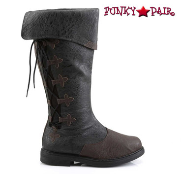 Funtasma   Captain-110, Men's Knee High Pull-On Boots   Side View