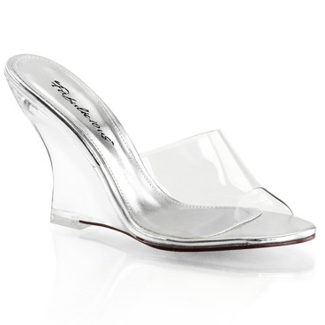 "Lovely-401, 4"" Clear Wedge Slide 
