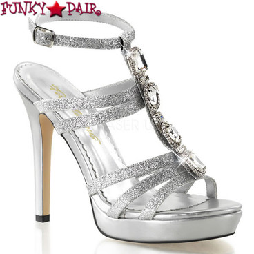 Lumina-22, 4.75 Inch T-Strap Sandal Made By PLEASER Shoes