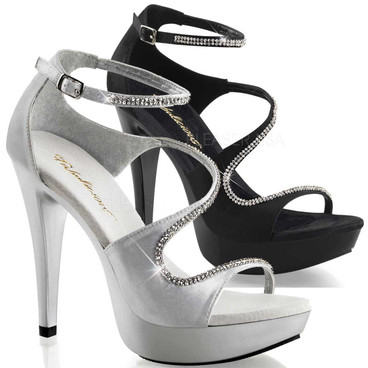 Cocktail-526, 5 Inch Curvy Closed Back Sandal