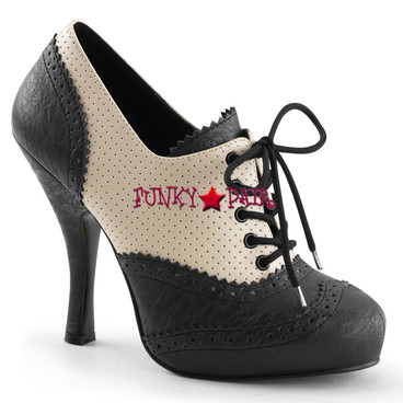 Cutiepie-14, 4.5 Inch Heel Spectator Oxford Made By PLEASER Shoes