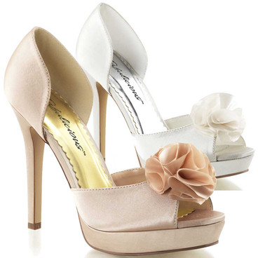 Lumina-34, Evening D'orsay Pump with Floral at Toe by Fabulicious