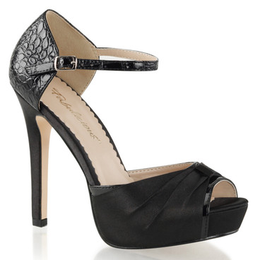 "4.75"" Heel Evening D'orsay Pump Peep Toe Fabulicious 