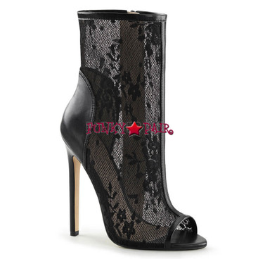Pleaser | Sexy-1008, Lace Ankle Bootsie