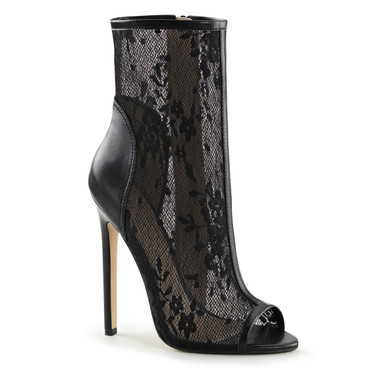 Lace Ankle Bootsie Pleaser | Sexy-1008