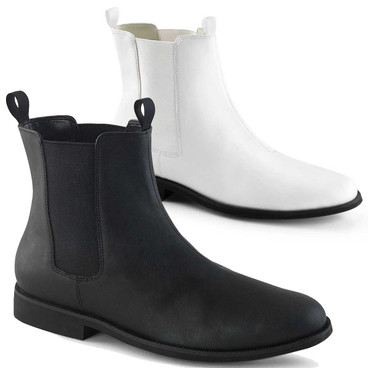 Trooper-12, Men's Pull on Chelsea Boot by Funtasma Shoes