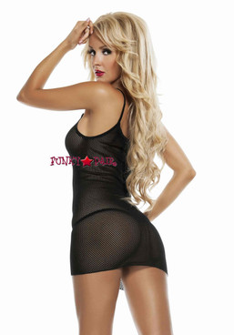 RL4504, Slip Fishnet Mini Dress back