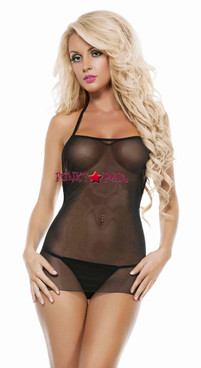 SL4721, Sheer and Straps Chemise *COMING SOON SEPT*