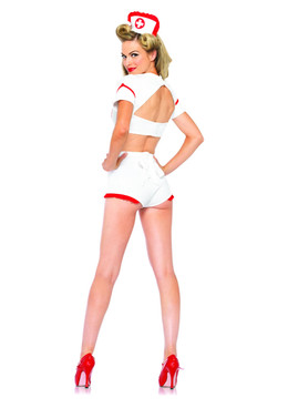 LA-85197, First Aid Flirt Nurse Costume Back