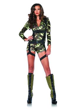 LA-85292, Sexy Goin' Commando Girl Romper Costume