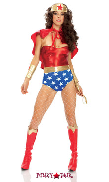FP--551307, Super Seductress - Adult Superhero Costume Full View