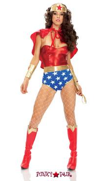 FP--551307, Super Seductress - Adult Superhero Costume Full View