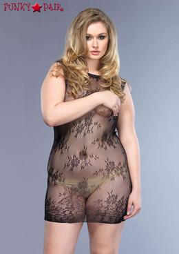 Plus size Floral Lace Mini Dress, LA87043Q