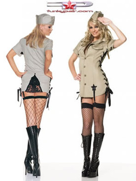 Pin up army girl costume (8066)