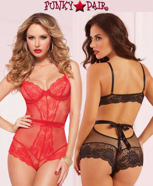 STM-9957, Fishnet Teddy Lace with Underwire | Seven'Til Midnight