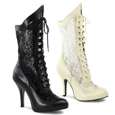 Wide Width Lace Ankle Boots | Funtasma Victorian-116X
