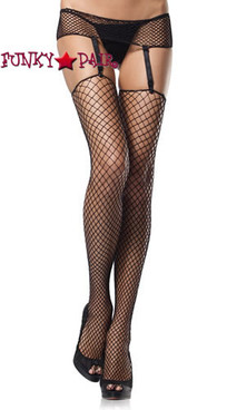 Industrial Net Thigh Highs w//Nurse Badge Black Dress Up Adult Costume Accessory