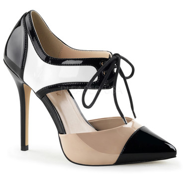 Pleaser Shoes Amuse-30, Tri Tone D'Orsay Pump