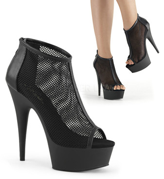 Pleaser | Delight-600-12, Mesh Booties
