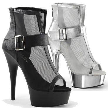 Mesh Booties Pleaser | Delight-600-23