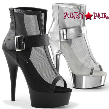 Pleaser | Delight-600-23, Mesh Booties