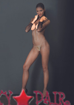 KI4010, Hooded Fishnet Boydstocking