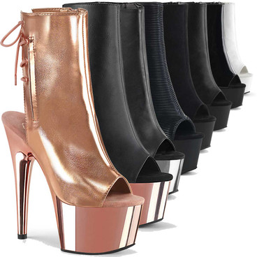 """Adore-1018, 7"""" Platform Dancer Ankle Boots by Pleaser USA"""