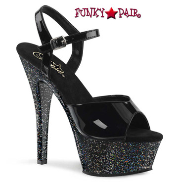 Pleaser | Kiss-209MG, 6 Inch Glitter Sandal