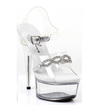 "Ellie Shoes | 609-Tiffany 6"" Rhinestones Sandals"